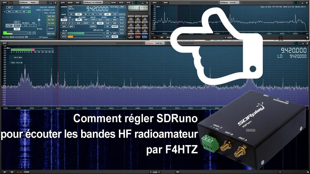 SDRplay RSP2 Screenshot ecoutes bandes hf radioamateur