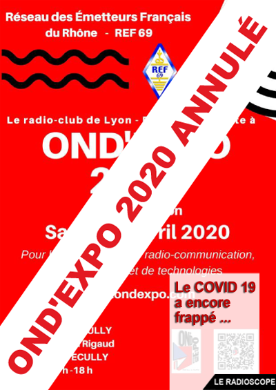 Affiche ondexpo 2020 annule