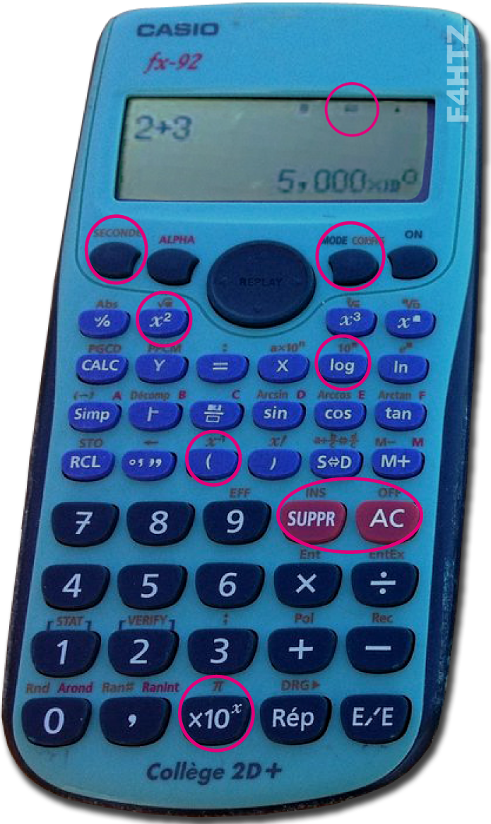 touches calculatrice
