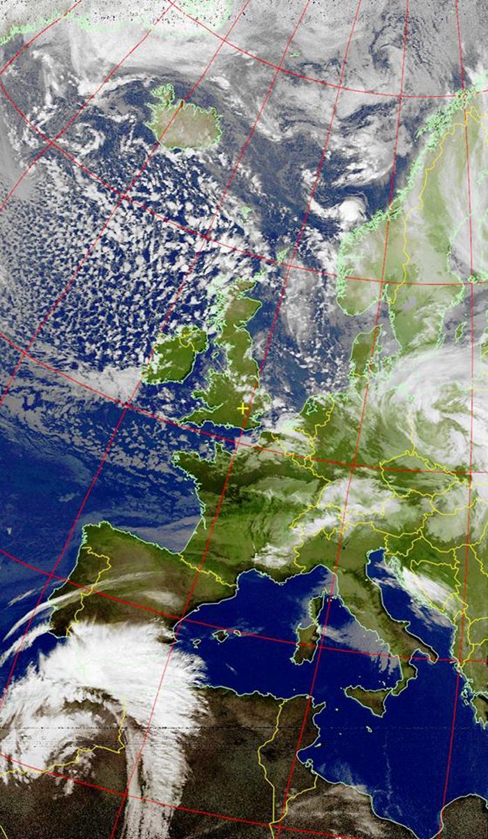 image envoyée par le satellite NOAA 18 le 18-01-2018